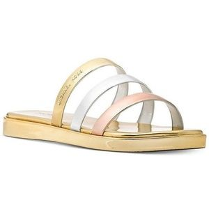 MICHAEL Michael Kors Keiko Slide Gold Sandal